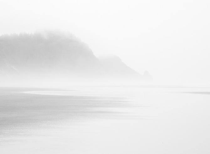 Morning Fog, Central Oregon Coast gelatin silver print