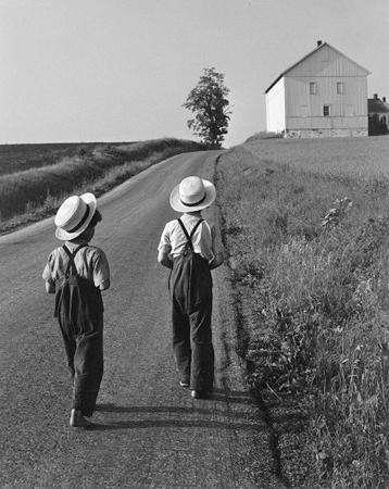 Two Amish Boys, Lancaster, Pennsylvania 1962 platinum/palladium
