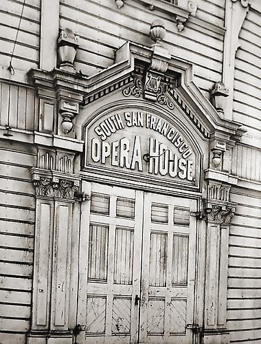Old South San Francisco Opera House circa 1940's-50's vintage gelatin silver print