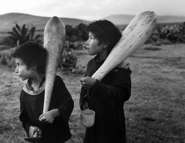 Kings of Canes, Tulancingo, Mexico 1981 gelatin silver print