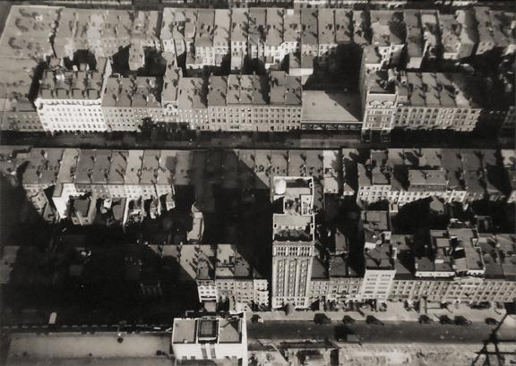 Untitled [aerial view of city] circa 1932 vintage gelatin silver print