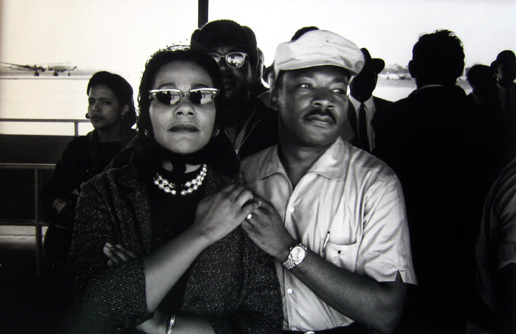 Selma to Montgomery March - Martin Luther King Jr., Correta Scott King, Montgomery Airport, Montgomery, Alabama, March 24, 1965 1965 gelatin silver print