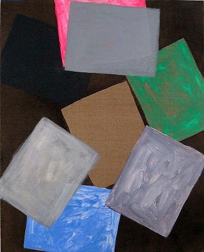 Paper at Night (pink), 2008 Oil on linen 31 x 25 in.