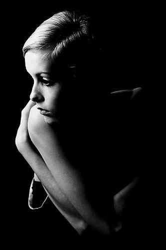Twiggy on a Photo Shoot, London, Great Britain 1965 gelatin silver print
