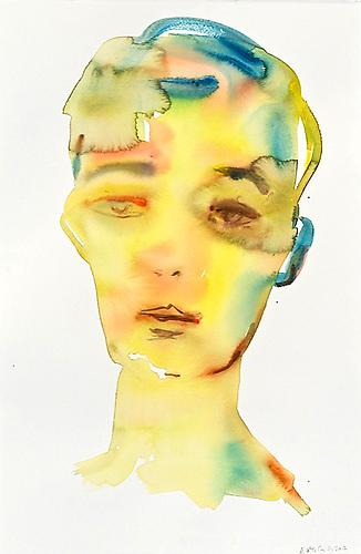 Brown Eye (2012) Watercolor On Paper 22h x 15w in (55.88h x 38.1w cm)