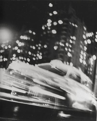 Taxi, New York Night 1947 gelatin silver print