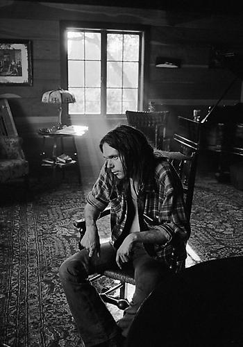 Neil Young at Home, Northern California 1971 gelatin silver print