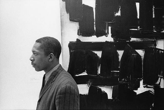 William Claxton, John Coltrane at the Guggenheim, New York City 1960 gelatin silver print