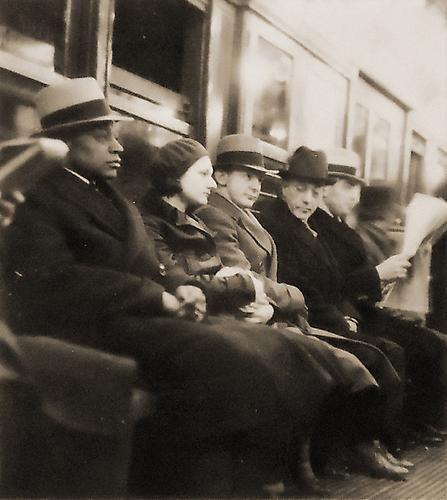Untitled [people on train] not dated vintage gelatin silver print