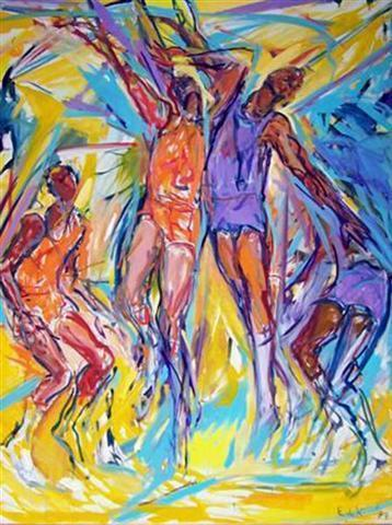 Basketball #40 Oil on canvas 84 x 66 inches (213.36 x 167.64 cm) Signed and dated lower right