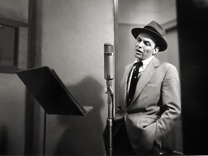 Frank Sinatra, New York City [recording in studio] 1956 gelatin silver print