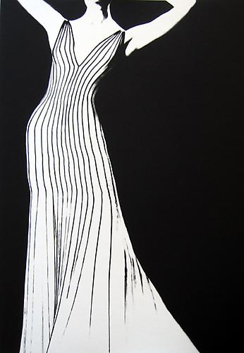 Dress by Thierry Mugler, For German Vogue 1998 gelatin silver print