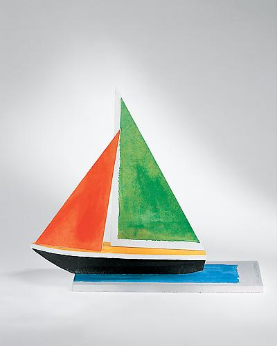 JOHN BALDESSARI  Sailboat, 2008 7 color photo-intaglio on handmade paper 15 x 17 ½ x 5 inches Edition of 30