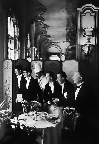 Waiters and Chef, Hotel Ritz, Paris, France 1969 gelatin silver print