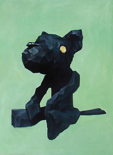 Andrew Smenos  There's Always a Black Cat , 2012 Oil on panel 61 x 45 inches