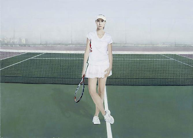 Tennis, 2009 Oil on linen 30.3 x 21.6 in.