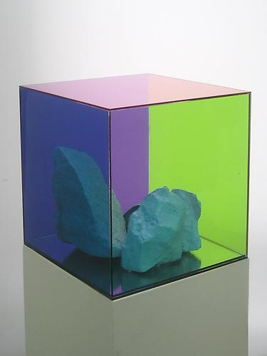 Consensus 4 (2012) Alumilite Resin, Oil, Enamel, Inkjet, Auto-tin, Plexiglas And Mdf 48h x 10w x 10d in (121.92h x 25.4w x 25.4d cm)