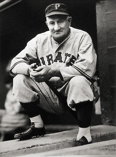 Honus Wagner in Dugout not dated gelatin silver print