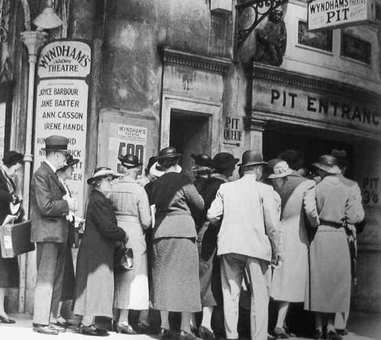 Matinée Queue, Wyndam's Theatre, London Charing Cross Road circa 1936 gelatin silver print
