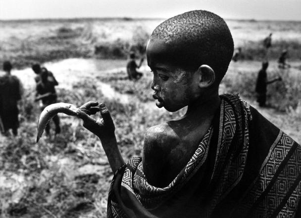 Fishing in the Marshes, Southern Sudan 2006 gelatin silver print