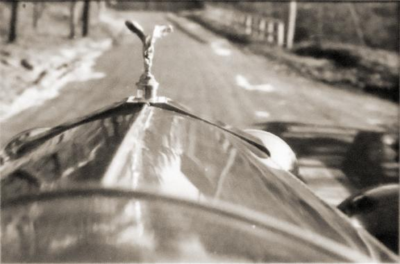 Untitled [hood of car] not dated vintage gelatin silver print