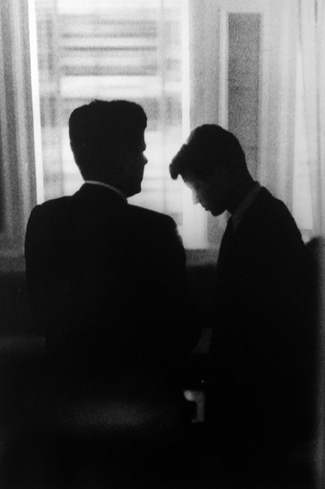 John F. Kennedy & Robert F. Kennedy at the Biltmore Hotel, Los Angeles 1960 gelatin silver print
