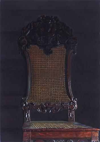 Chair, 2005 Oil on canvas 13.8 x 21.7 inches
