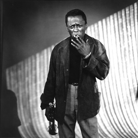 William Claxton, Miles Davis with Cigarette, Los Angeles 1957 gelatin silver print