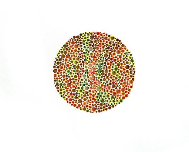  Colorblind (18) , 2008, cut paper, 8.5 x 11 inches
