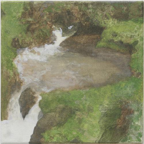 The Source , 2009 Oil on linen 12 x 12 inches