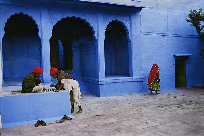 Steve McCurry Chess Players in Jodhpur, India  1996