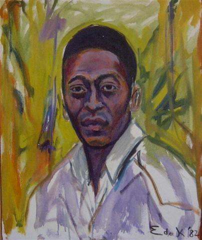 Pele No. 1,1982		 Oil on canvas	 21 3/4 x 19 inches (55.25 x 48.26 cm)		 Signed and dated lower right DEKO_E_047