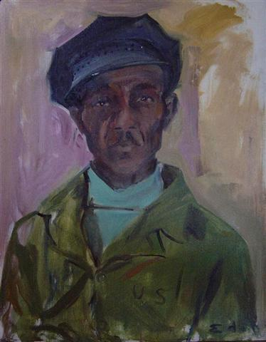 Sam Bostick,1968		 Oil on canvas	 30 x 24 inches (76.2 x 60.96 cm)		 Signed lower right; titled and dated reverse DEKO_E_049