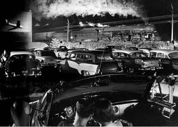 'Hot Shot' Eastbound, Leager Drive-in, West Virginia 1955 gelatin silver print