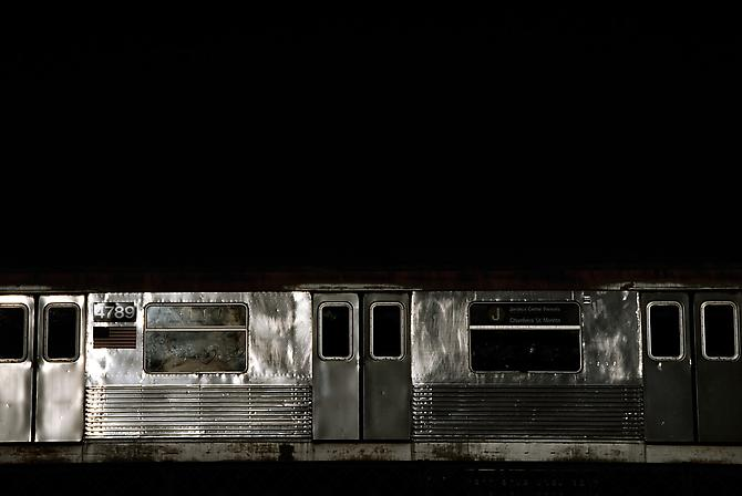 David S. Allee, 4:02 pm, J Train ed. 3 (2010) Chromogenic Print 40h x 60w in (101.6h x 152.4w cm)