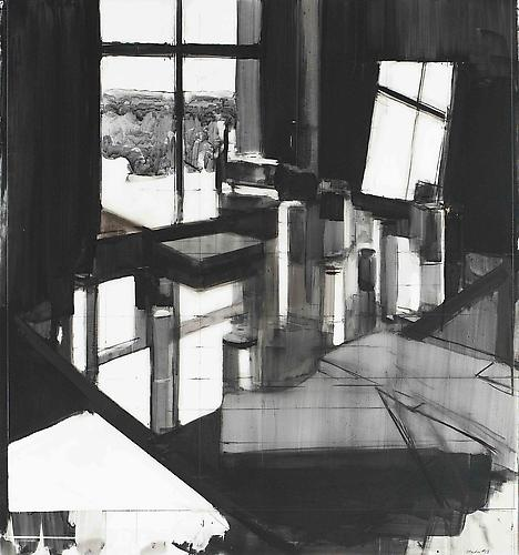 Studio #13, 2012 Ink and charcoal on mylar 30 1/2 x 28 inches