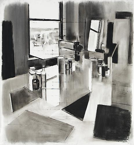 Studio #15, 2013 Conte crayon and charcoal on mylar 40 x 36 inches