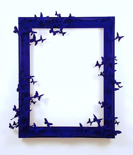 Paul Villinski, Mirror (2013) Wood, Aluminum (Found Cans), Wire, Flashe 50h x 45w x 9d in (127h x 114.3w x 22.9d cm)