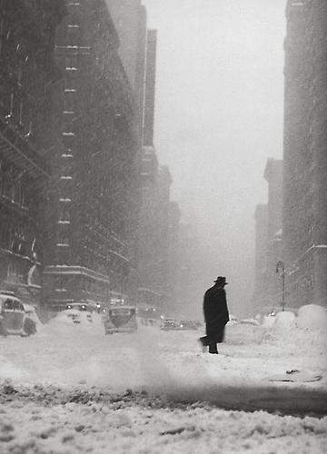 Little Man in the Snow, Chicago 1947-8 gelatin silver print