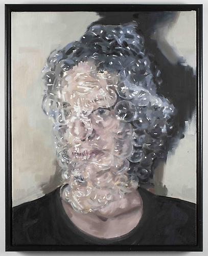 bubblewrap , 2010 Oil on canvas 32 x 26 inches
