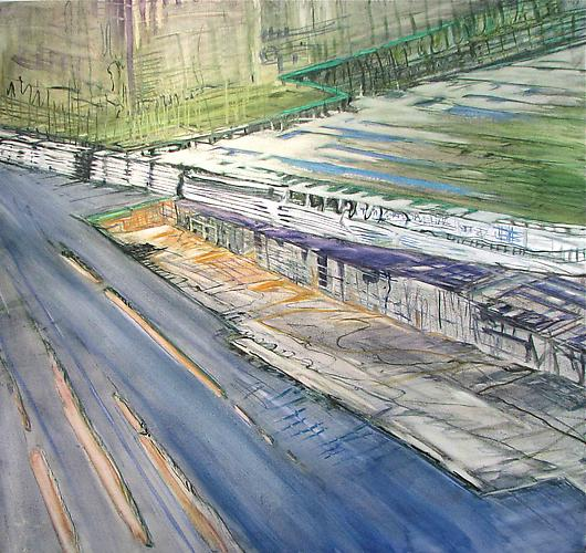 Judith Belzer, Through Lines #5 (2010) Oil On Canvas  30h x 32w in (76.2h x 81.28w cm)