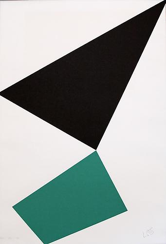 Leon Polk Smith Untitled (1976-1989), 1989 Serigraph, 34 x 49 inches.