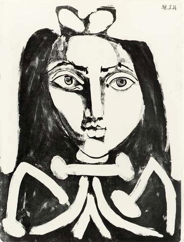 Portrait of a Young Girl (M. 151; not in B) ,  15 5/8 x 11 5/8 inches (39.5 x 29.4 cm), Lithograph on Arches paper, 1949
