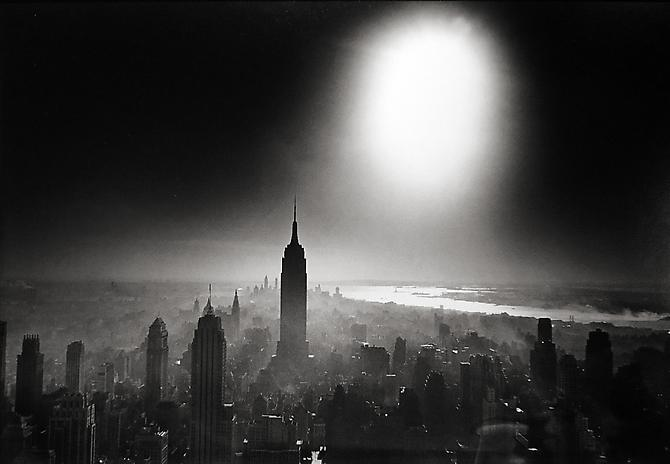 Atomic Bomb Sky, New York City 1955 Gelatin Silver Print
