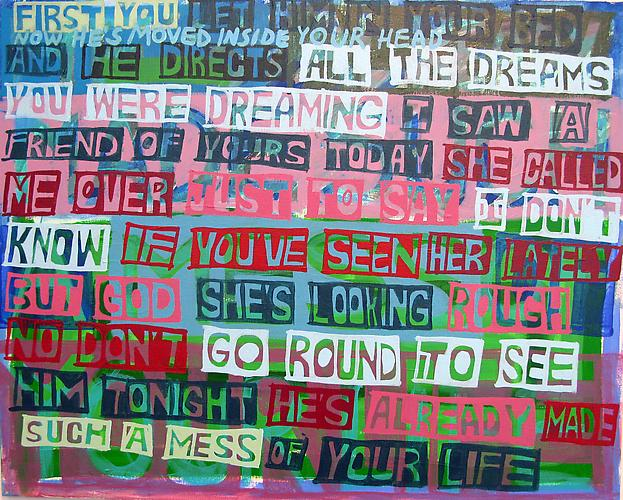 Have you seen her lately , 2011 Acrylic on canvas 24 x 30 inches
