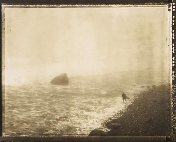 September 11, 2002, 8:46 AM Montauk Point, New York 2002 Sepia Toned Print