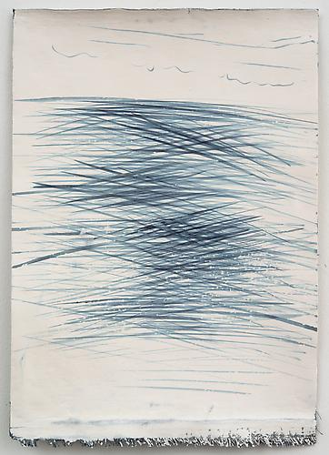 Nancy Lorenz, Untitled from Cill Rialaig II (2012) Ink And Gesso On Book Cloth 11.5h x 7.5w in (29.21h x 19.05w cm)