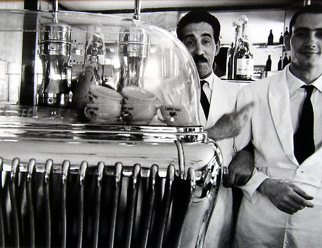Two Waiters in Cafe, Rome 1956 gelatin silver print