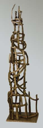 Jacob's Ladder No. 2,1957 Bronze 31 x 8 3/4 x 7 1/4 inches  unsigned (The centerpiece for the 1965 retrospective on Dehner at Jewish Museum)