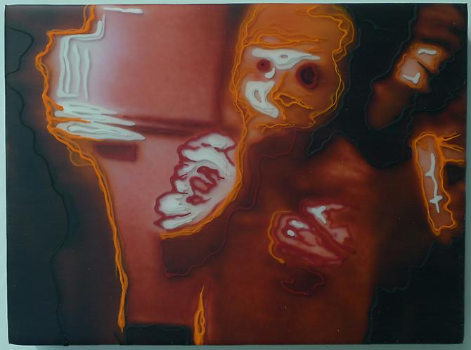 Film II, 2011 C-print, acrylic and resin on panel 7 1/2 x 10 inches